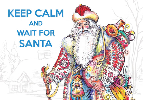 Photo: Keep Calm and Wait for Santa - special edition postcard (bundle x 5 pieces) - top quality approved by www.postcardsmarket.com specialists