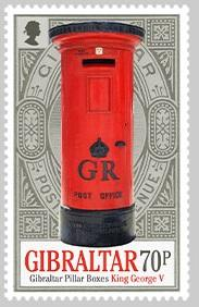 @2016 Pillar Boxes 70p Stamp  - Gibraltar stamps