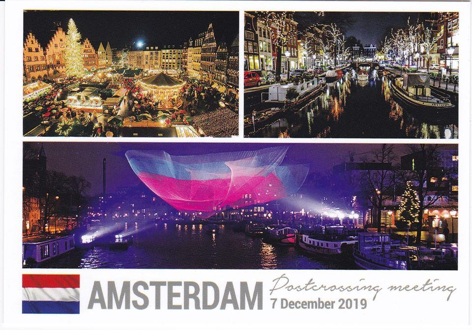 Photo Meeting: Amsterdam Netherlands 7 December 2019 Meeting postcard x5 pieces - Postcards Market