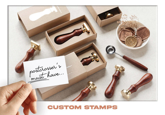 Photo: Postcrosser's Must Have - Custom Stamps (bundle x 5 pieces) - top quality approved by www.postcardsmarket.com specialists