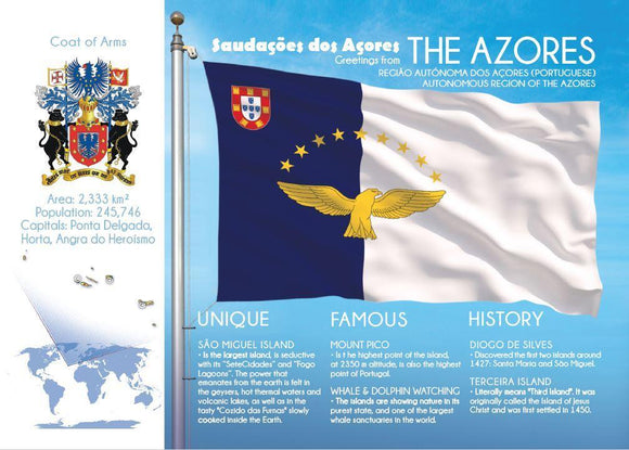 Europe | Africa | THE AZORES - FW - top quality approved by www.postcardsmarket.com specialists