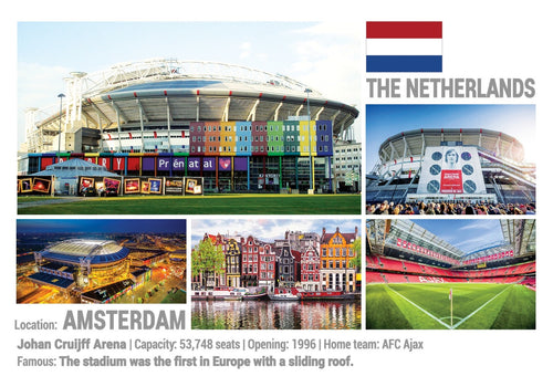 Photo: European Football Stadiums - Amsterdam (x 5 pcs) - top quality approved by www.postcardsmarket.com specialists