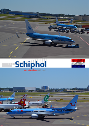 Photo: Schipol Amsterdam - Airport (bundle x 5 pieces) - top quality approved by www.postcardsmarket.com specialists