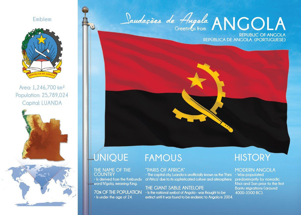 AFRICA | ANGOLA - FW (country No. 44) - top quality approved by www.postcardsmarket.com specialists