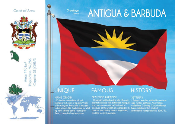 ANTIGUA AND BARBUDA - FW - top quality approved by www.postcardsmarket.com specialists