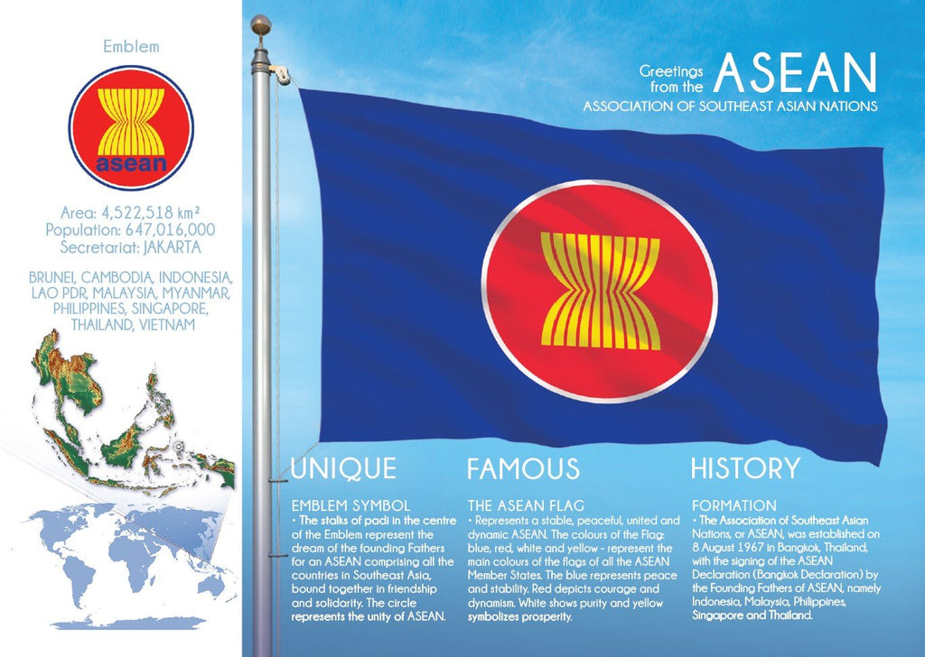 Asia | ASEAN - FW - top quality approved by www.postcardsmarket.com specialists