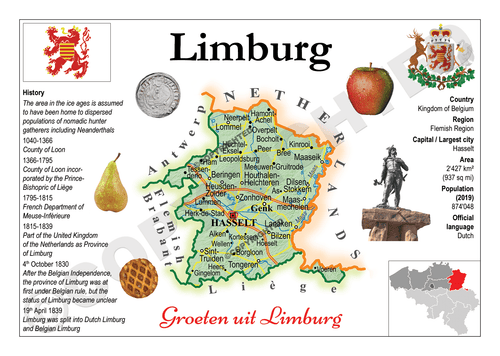 Europe | Belgium Province - Limburg MOTW x 3pieces - top quality approved by www.postcardsmarket.com specialists