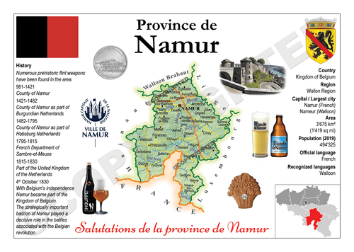 Europe | Belgium Province - Namur MOTW x 3pieces - top quality approved by www.postcardsmarket.com specialists