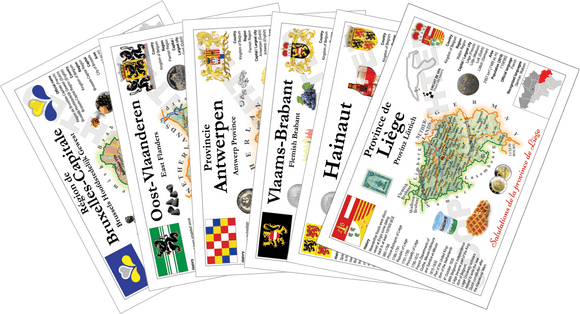 Belgium Provinces - All 12 collector pack - 11 Provinces + 1 Belgium MOTW - top quality approved by www.postcardsmarket.com specialists