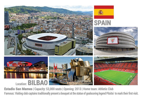 Photo: European Football Stadiums - Bilbao - Spain (x 5 pcs) - top quality approved by www.postcardsmarket.com specialists