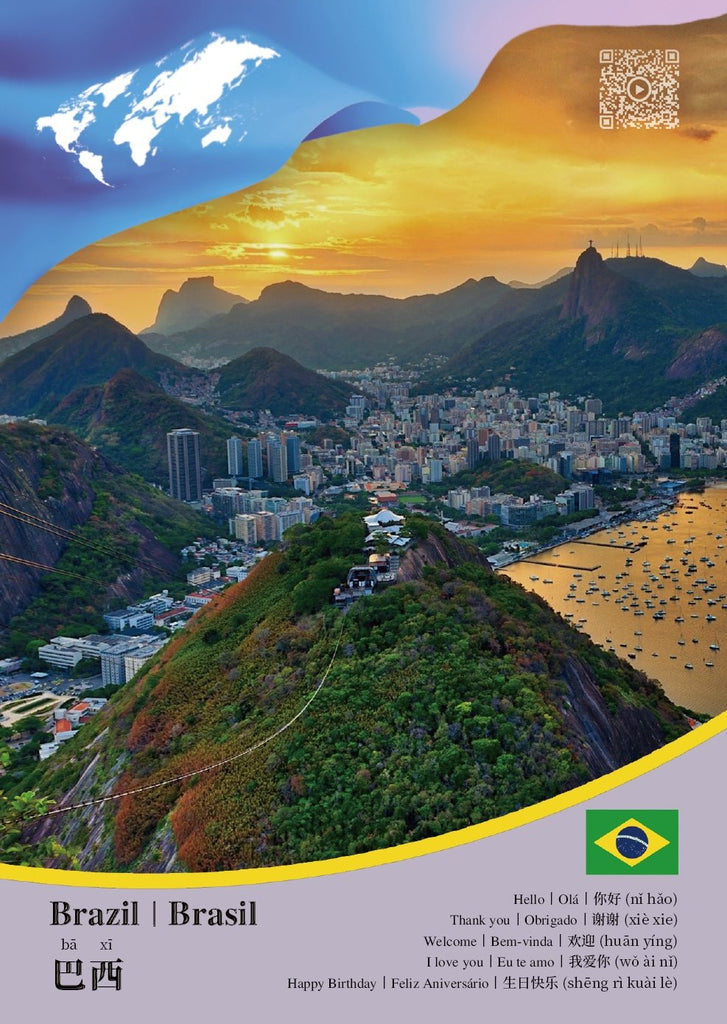 CCUN Postcard Brazil - top quality approved by www.postcardsmarket.com specialists