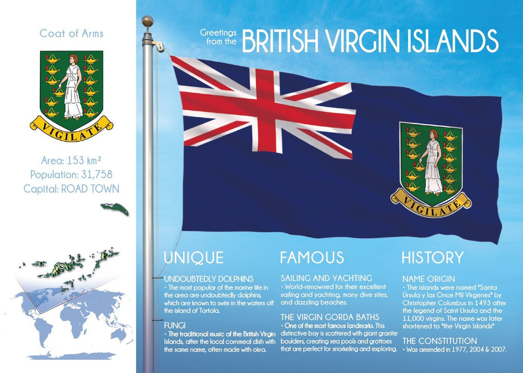 North America | BRITISH VIRGIN ISLANDS - FW - top quality approved by www.postcardsmarket.com specialists