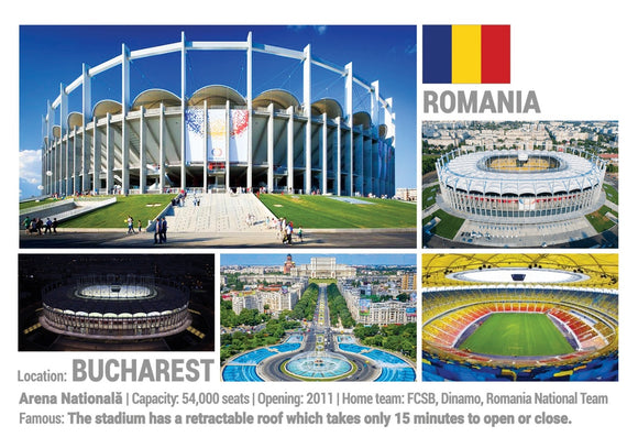 Photo: European Football Stadiums - Bucharest (x 5 pcs) - top quality approved by www.postcardsmarket.com specialists