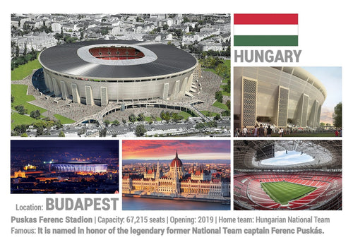 Photo: European Football Stadiums - Budapest (x 5 pcs) - top quality approved by www.postcardsmarket.com specialists
