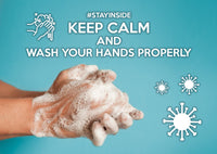 Photo #stayinside - Wash your hands (bundle x 5 pieces) - top quality approved by www.postcardsmarket.com specialists