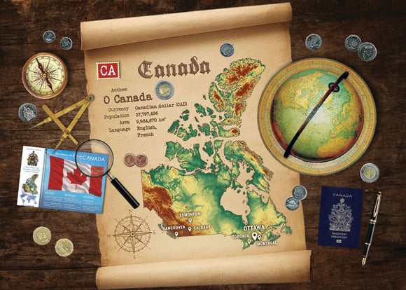 Canada Map Postcard World Explorer PWE - Postcards Market