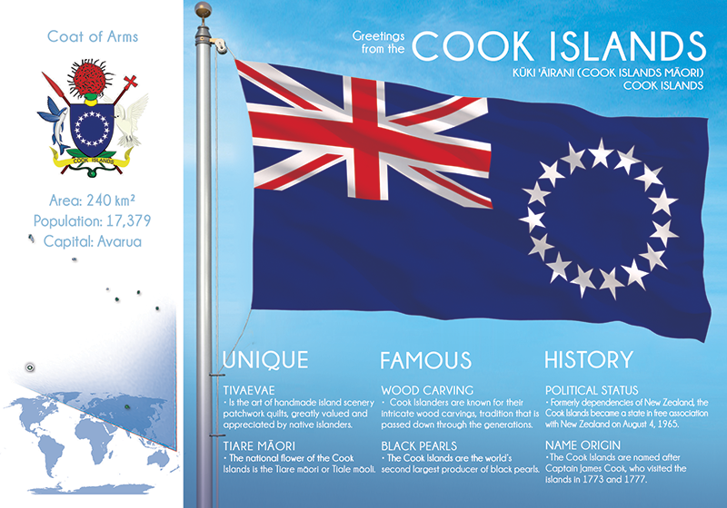 Oceania | COOK ISLANDS - FW - top quality approved by www.postcardsmarket.com specialists