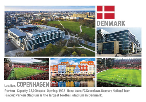 Photo: European Football Stadiums - Copenhagen (x 5 pcs) - top quality approved by www.postcardsmarket.com specialists