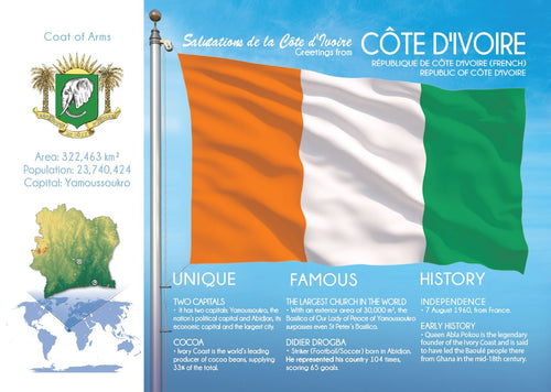AFRICA | IVORY COAST - Côte d'Ivoire FW (country No. 53) - top quality approved by www.postcardsmarket.com specialists