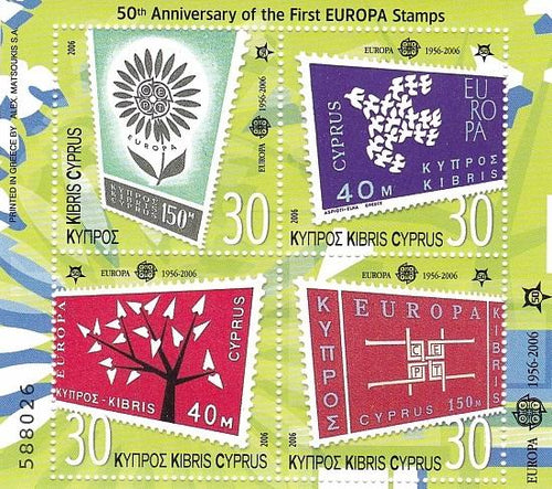 *Stamps | Cyprus 50th Anniversary of the first Europa Issue - Souvenir Sheet - Cyprus - top quality Stamps approved by www.postcardsmarket.com specialists