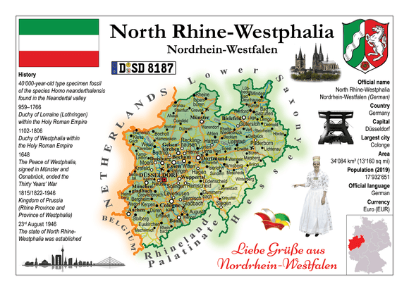 Europe | Germany States - North Rhine - Westphalia _ Nordrhein-Westfalen MOTW x 3pieces - top quality approved by www.postcardsmarket.com specialists