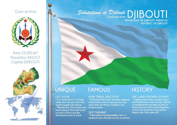 AFRICA | DJIBOUTI - FW (country No. 157) - top quality approved by www.postcardsmarket.com specialists