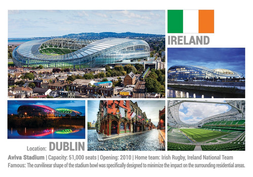 Photo: European Football Stadiums - Dublin (x 5 pcs) - top quality approved by www.postcardsmarket.com specialists