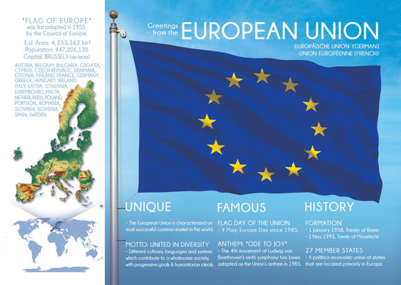 EUROPEAN UNION - FW (Update Brexit) - top quality approved by www.postcardsmarket.com specialists