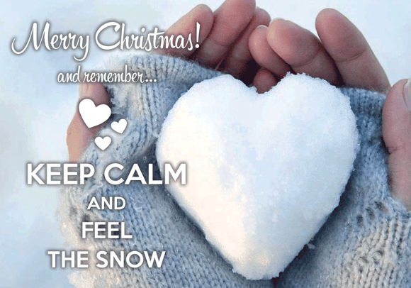 Photo: Keep calm and feel the snow - Postcards Market
