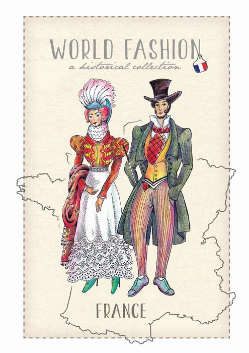 World Fashion Historical Collection - France (bundle x 5 pieces) - top quality approved by Postcards Market specialists