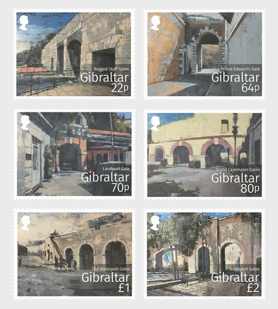 @2016 Gibraltar Historic Gates - Gibraltar stamps - top quality approved by www.postcardsmarket.com specialists
