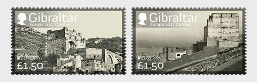 *Stamps | Gibraltar 2017 Europa stamps - Castles - Gibraltar stamps - top quality approved by www.postcardsmarket.com specialists