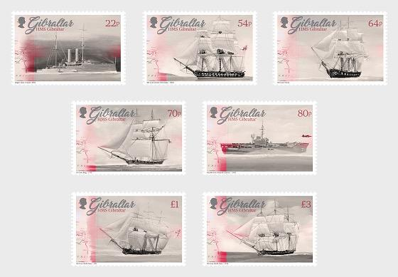 2017 HMS Gibraltar British Royal Navy - Gibraltar stamps