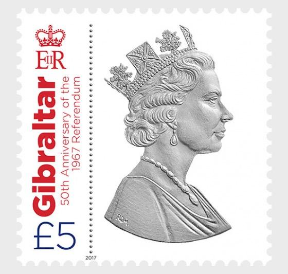 @2017 Referendum 50th Anniversary - High value stamp - Gibraltar stamps - www.postcardsmarket.com