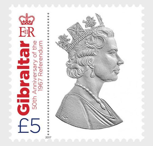 *Stamps | Gibraltar 2017 Referendum 50th Anniversary - High value stamp - Gibraltar stamps - top quality approved by www.postcardsmarket.com specialists