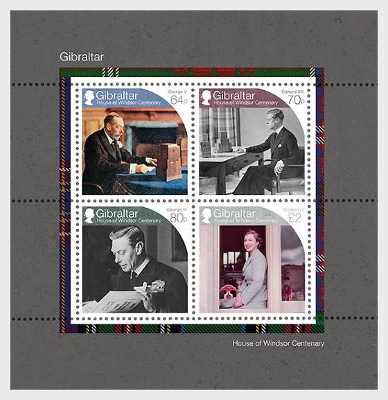 @2017 House of Windsor Centenary - Gibraltar stamps
