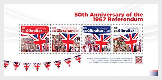 @2017 Referendum 50th Anniversary - Gibraltar Miniature Sheet - Postcards Market