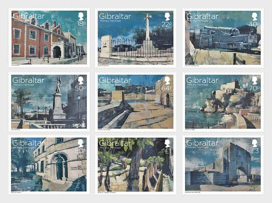 @2017 Military Heritage- Gibraltar stamps