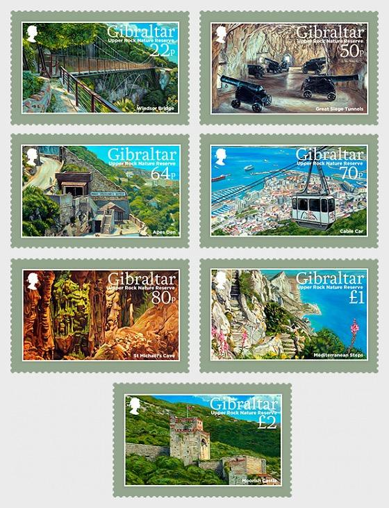 @2017 Upper Rock Nature Reserve - Gibraltar stamps