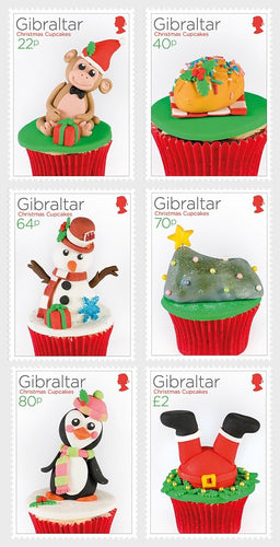 *Stamps | Gibraltar 2017 Christmas - Cupcakes - Gibraltar stamps - top quality approved by www.postcardsmarket.com specialists