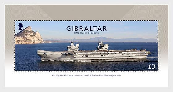 2018 HMS Queen Elizabeth - Gibraltar Miniature Sheet