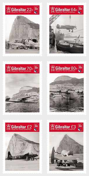 @2018 Royal Air Force Centenary - Gibraltar stamps