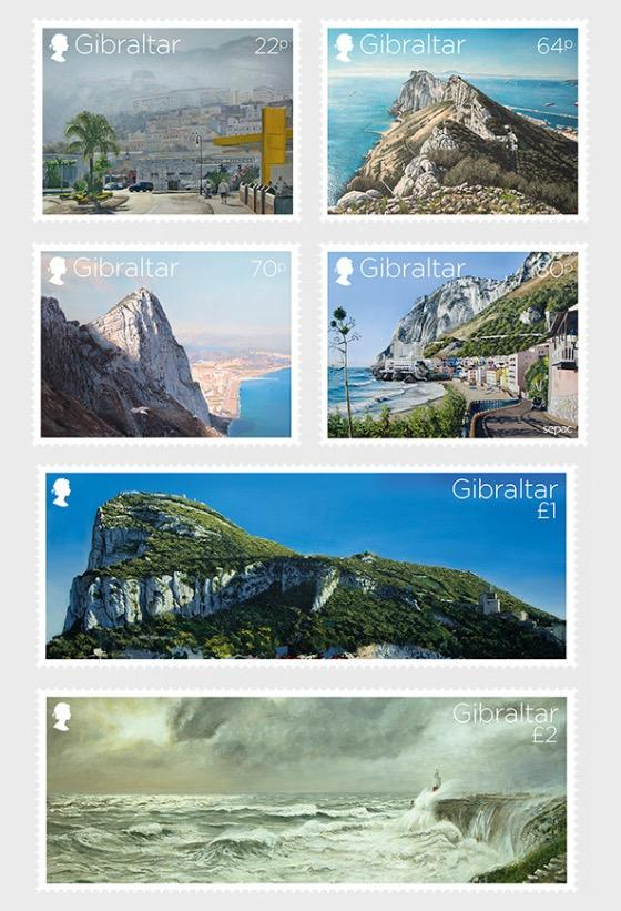 @2018 Views of the Rock - Gibraltar stamps - top quality approved by www.postcardsmarket.com specialists