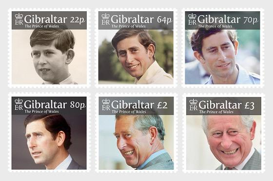 @2018 The Prince of Wales - 70th Birthday Anniversary of Prince Charles - Gibraltar stamps