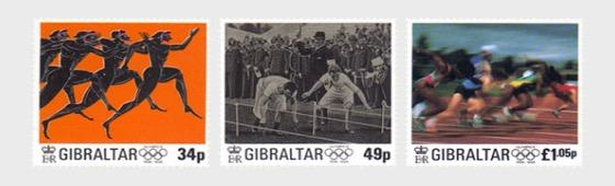 @1996 International Olympic Committee - 100 years - Gibraltar Stamps - www.postcardsmarket.com