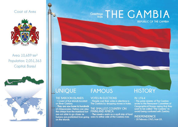 AFRICA | THE GAMBIA - FW (country No. 141) - top quality approved by www.postcardsmarket.com specialists