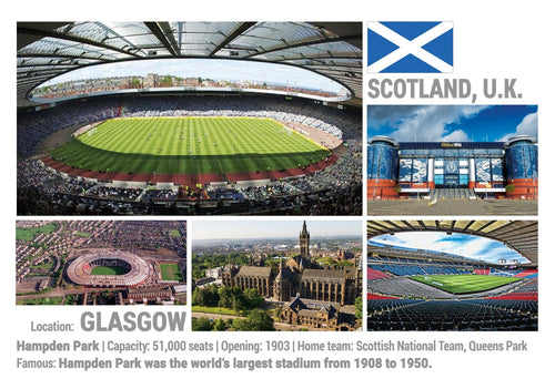 Photo: European Football Stadiums - Glasgow - Scotland, United Kigdom (x 5 pcs) - top quality approved by www.postcardsmarket.com specialists