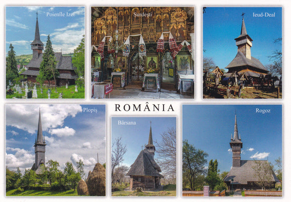 Market Corner: Bundle of 3 x LAD Romania Wooden Churches of Maramures - UNESCO list - top quality approved by www.postcardsmarket.com specialists