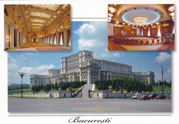 Market Corner: Bundle of 3 x LAD Romania The Palace Parliament & interior - top quality approved by www.postcardsmarket.com specialists