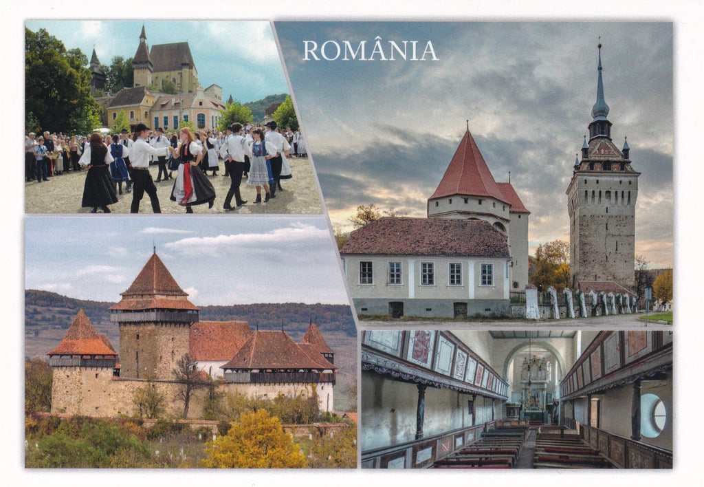 Market Corner: Bundle of 3 x LAD Romania Villages with fortified churches in Transylvania - UNESCO list - Postcards Market